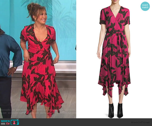 Cora V-Neck Wrap Dress by A.L.C. worn by Carrie Inaba (Carrie Inaba) on The Talk