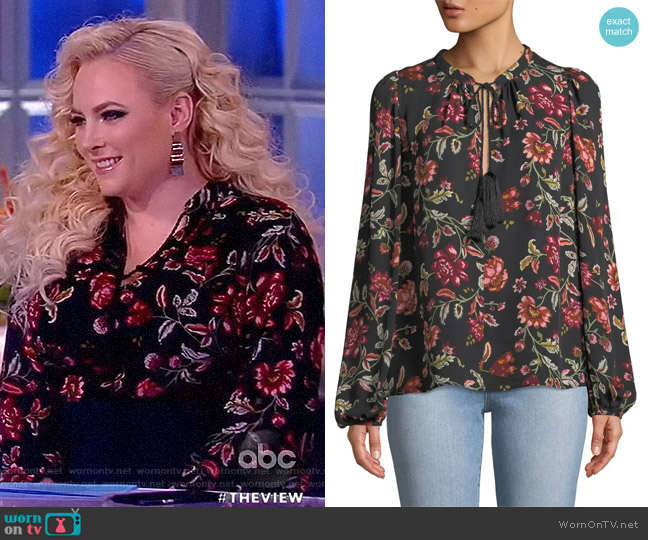 Royan Floral Blouse by A.L.C. worn by Meghan McCain  on The View
