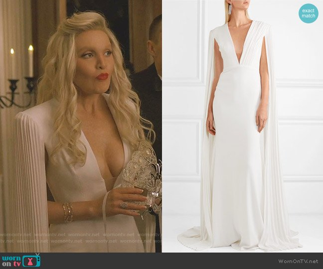 Clemence Gown by Alex Perry worn by Alexis Carrington (Elaine Hendrix) on Dynasty
