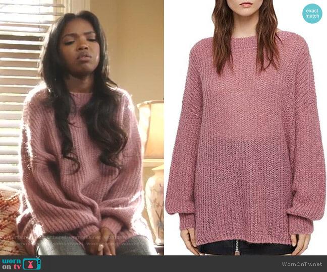 Renne Oversized Sweater by All Saints worn by Alexandra Crane (Ryan Destiny) on Star