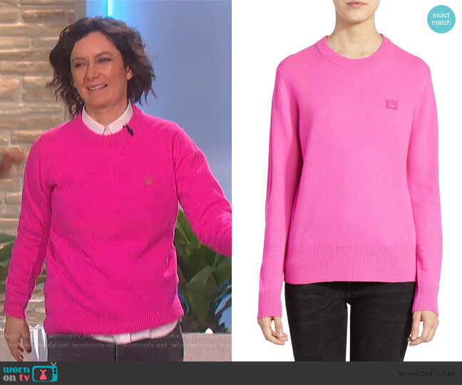 Nalon Wool Crewneck Sweater by Acne Studios worn by Sara Gilbert  on The Talk