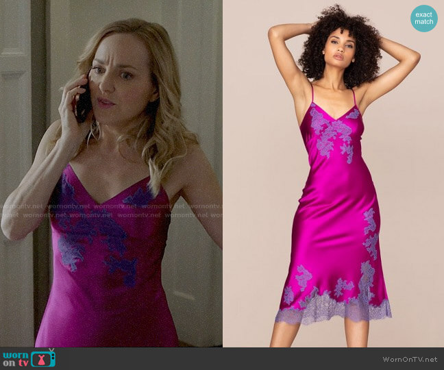Agent Provocateur Elizabelle Long Slip Pink worn by Marissa Morgan (Geneva Carr) on Bull