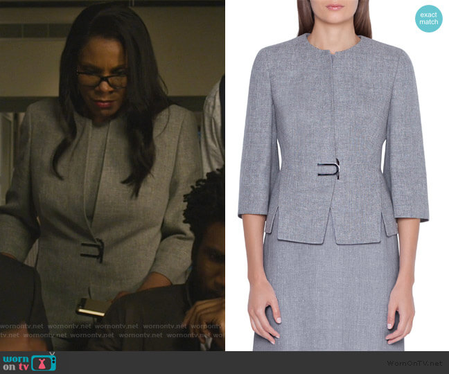 Anais Jacket by Akris worn by Liz Reddick-Lawrence (Audra McDonald) on The Good Fight