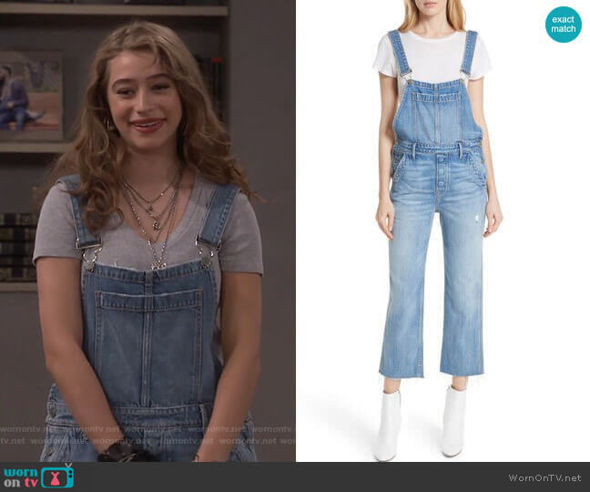 Alek Overalls by Grlfrnd worn by Shannon (Odessa Adlon) on Fam