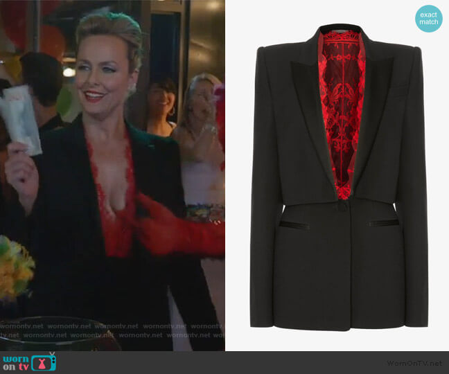 Sarabande Lace Box Jacket by Alexander McQueen worn by Jacqueline (Melora Hardin) on The Bold Type
