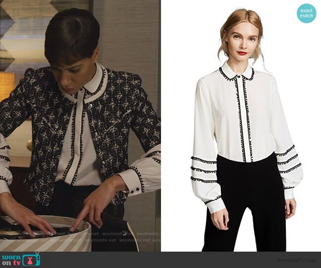 Baylee Top by Alexis worn by Lucca Quinn (Cush Jumbo) on The Good Fight