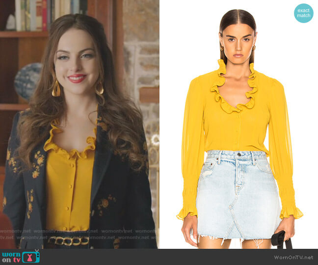 Scyler top by Alexis worn by Fallon Carrington (Elizabeth Gillies) on Dynasty