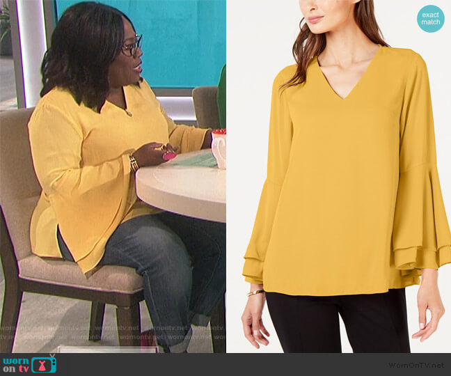 Bell-Sleeve Blouse by Alfani worn by Sheryl Underwood  on The Talk