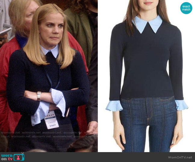 Alice + Olivia Aster Sweater worn by Amy Brookheimer (Anna Chlumsky) on Veep