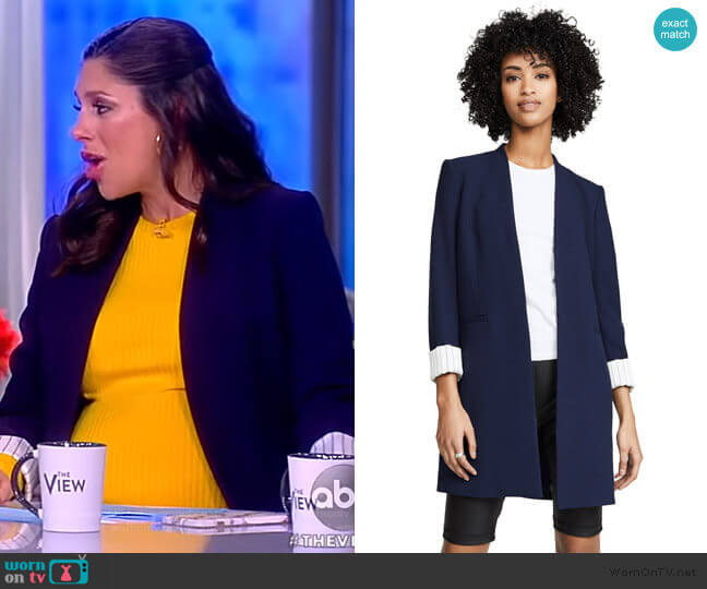 Simpson Roll Cuff Collarless Blazer by Alice + Olivia worn by Abby Huntsman  on The View