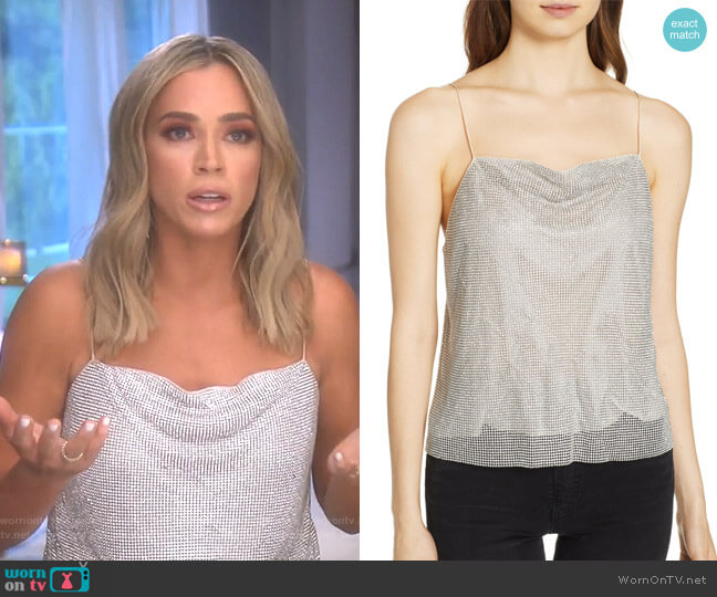 Harmon Camisole by Alice + Olivia worn by Teddi Mellencamp Arroyave (Teddi Mellencamp Arroyave) on The Real Housewives of Beverly Hills