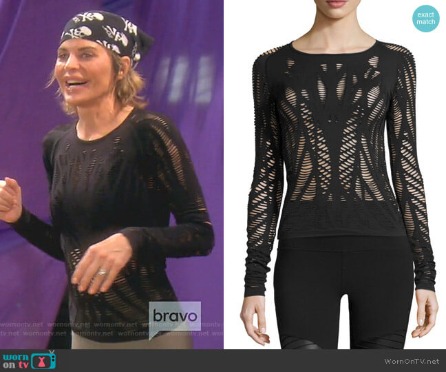 Wanderer Long Sleeve Top by Alo Yoga worn by Lisa Rinna (Lisa Rinna) on The Real Housewives of Beverly Hills