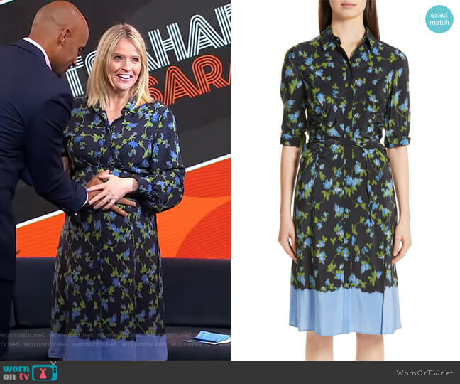 Floral Print Silk Dress by Altuzarra worn by Sara Haines  on Good Morning America