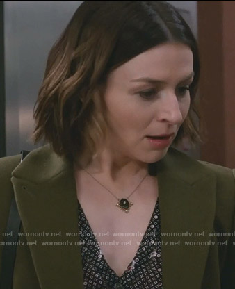 Amelia's green coat on Grey's Anatomy