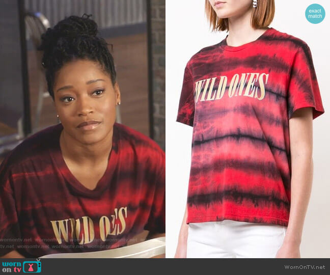 Wild Ones T-Shirt by Amiri worn by Gigi (Keke Palmer) on Star