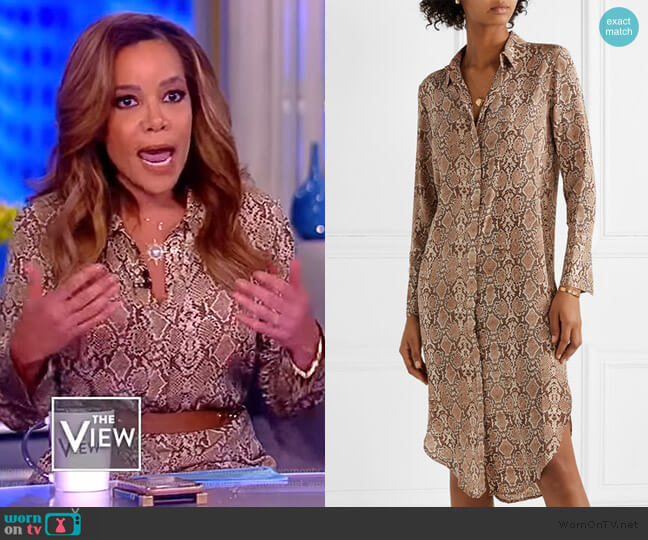 Chelsea snake-print Dress by Anine Bing worn by Sunny Hostin  on The View