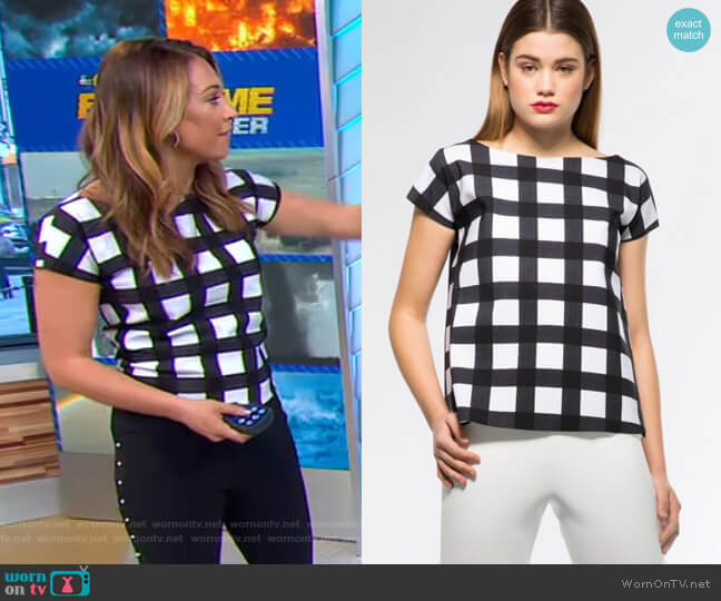 Annasofia Top by Chiara Boni La Petite Robe worn by Ginger Zee  on Good Morning America