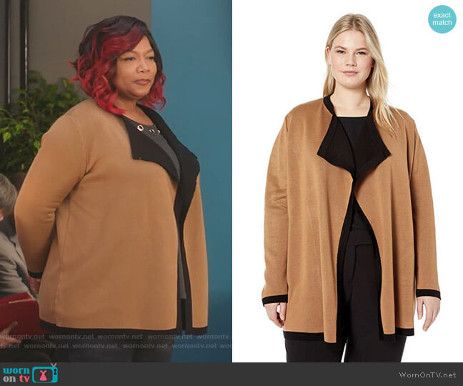 Double Knit Drape Front Cardigan by Anne Klein worn by Carlotta Brown (Queen Latifah) on Star