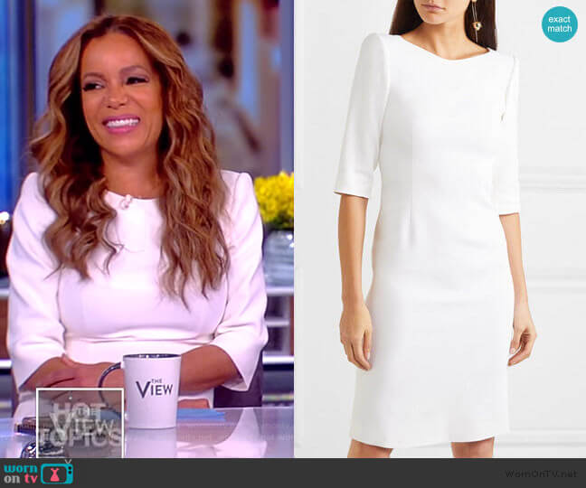 Stretch-cady dress by Antonio Berardi worn by Sunny Hostin  on The View