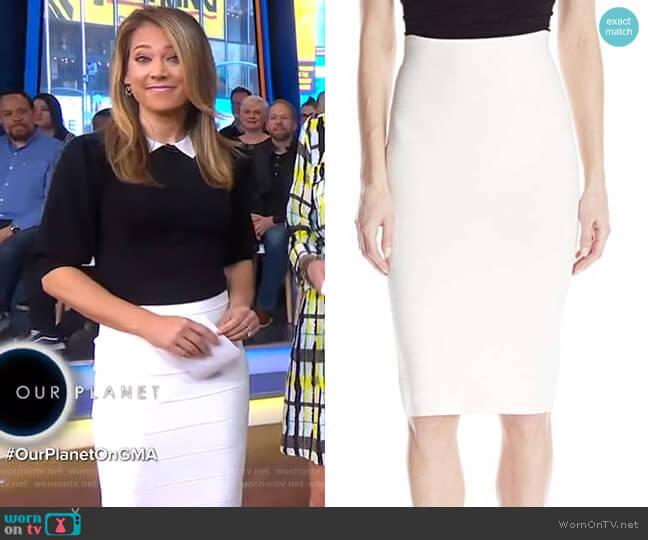 Leger Mid-Length Pencil Skirt by Bcbgmaxazria worn by Ginger Zee (Ginger Zee) on Good Morning America