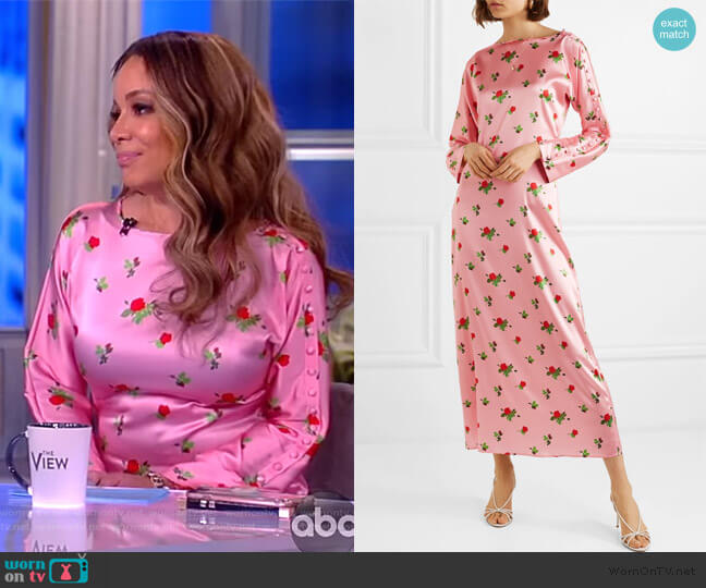 Dakota floral-print stretch-silk satin maxi dress by Bernadette worn by Sunny Hostin  on The View