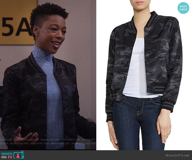 Bridge Agent Camo Bomber Jacket by Bailey 44 Samira Wiley on Will and Grace