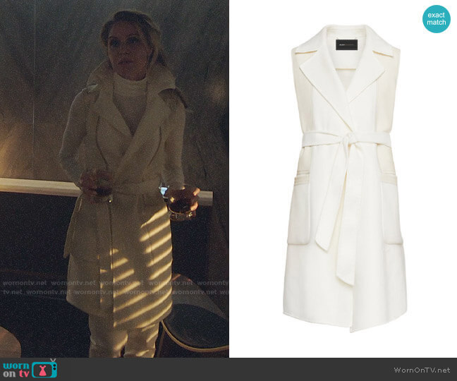 Bcbgmaxazria Camilla Long Wrap Vest worn by Charity (Virginia Williams) on Charmed