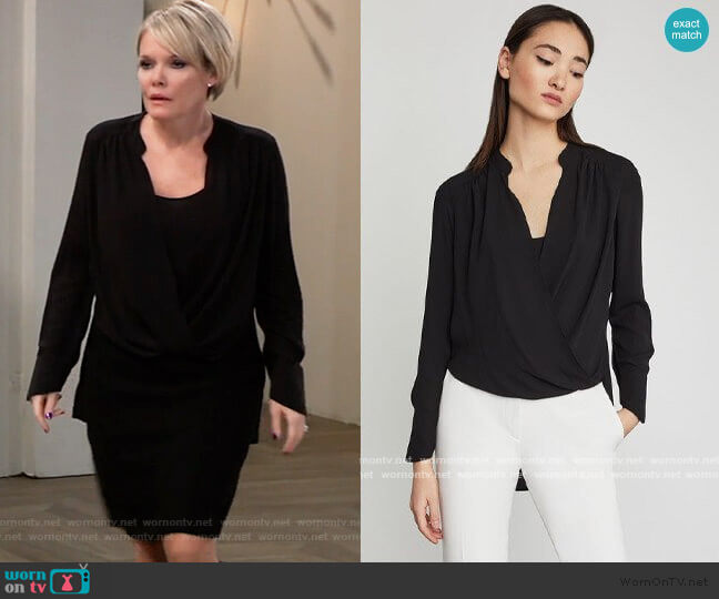 Bcbgmaxazria Jaklyn Blouse worn by Ava Jerome (Maura West) on General Hospital