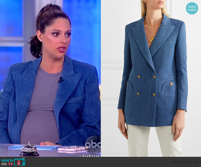 Everyday double-breasted linen blazer by Blaze Milano worn by Abby Huntsman  on The View
