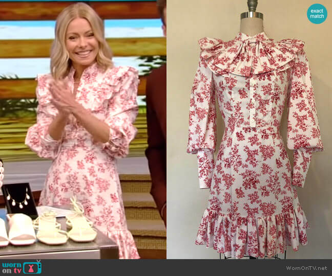 Bon Bon Dress by Tracy Feith worn by Kelly Ripa  on Live with Kelly & Ryan