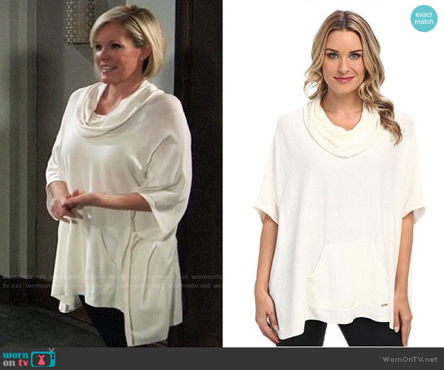 Calvin Klein Cowl Poncho w/ Pocket worn by Ava Jerome (Maura West) on General Hospital