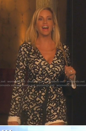 Camille's white lace romper on The Real Housewives of Beverly Hills