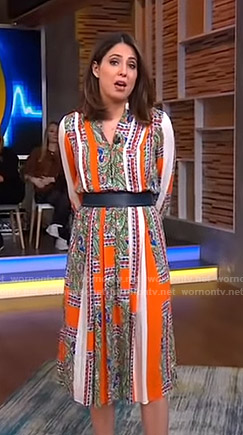 Cecilia's mixed print dress on Good Morning America