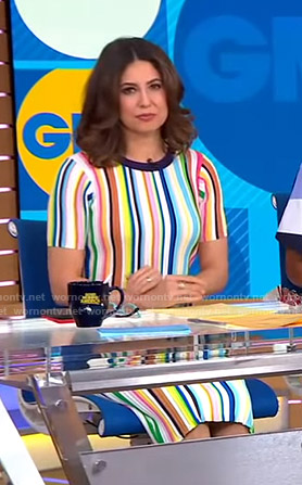 Cecilia's multicolor striped dress on Good Morning America