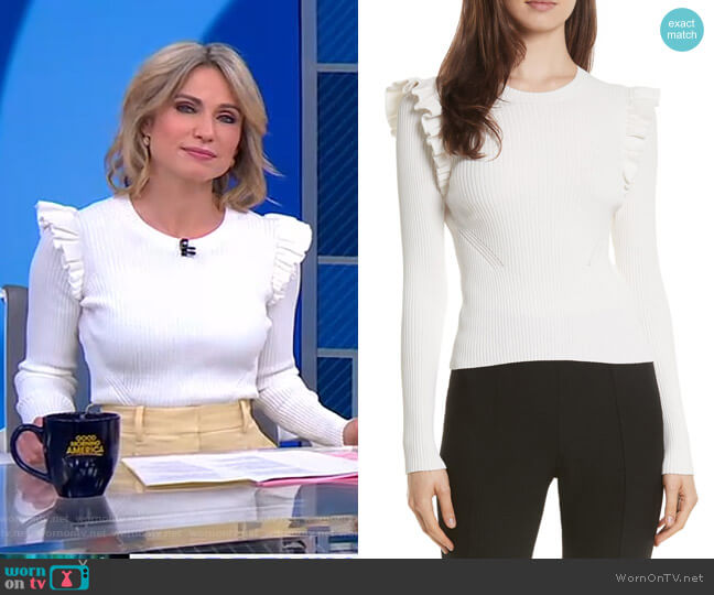Sloann Sweater by Cinq a Sept worn by Amy Robach  on Good Morning America