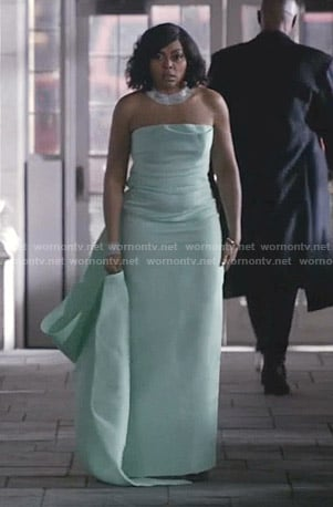 Cookie's pastel green strapless gown on Empire