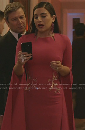 Cristal's pink slit gown on Dynasty