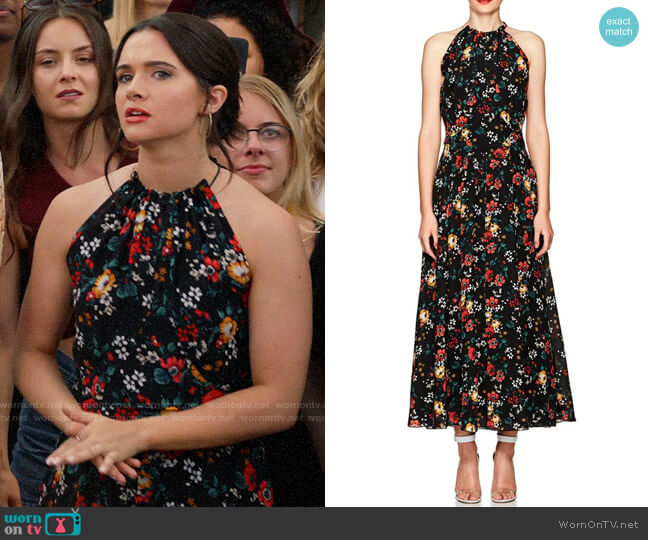 Derek Lam Floral Silk Maxi Dress worn by Jane Sloan (Katie Stevens) on The Bold Type