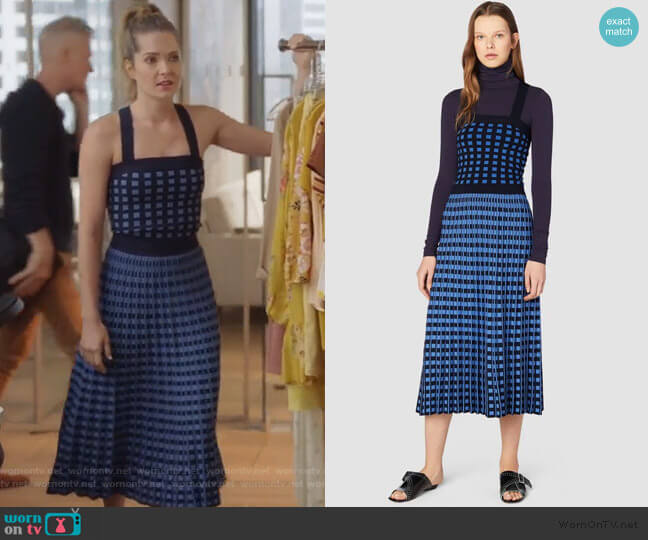 Knitted Crop Top and Skirt by Derek Lam worn by Sutton (Meghann Fahy) on The Bold Type