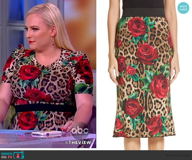 WornOnTV: Meghan's Leopard Top And Skirt On The View
