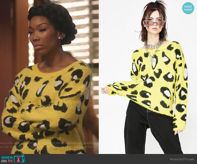 Jungle Wonder Leopard Sweater by Dolls Kill worn by Cassie Brown (Brandy Norwood) on Star