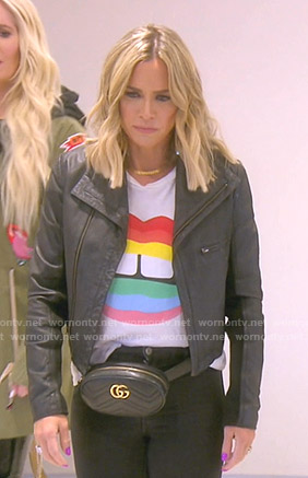 Teddi's rainbow lip print tee on The Real Housewives of Beverly Hills