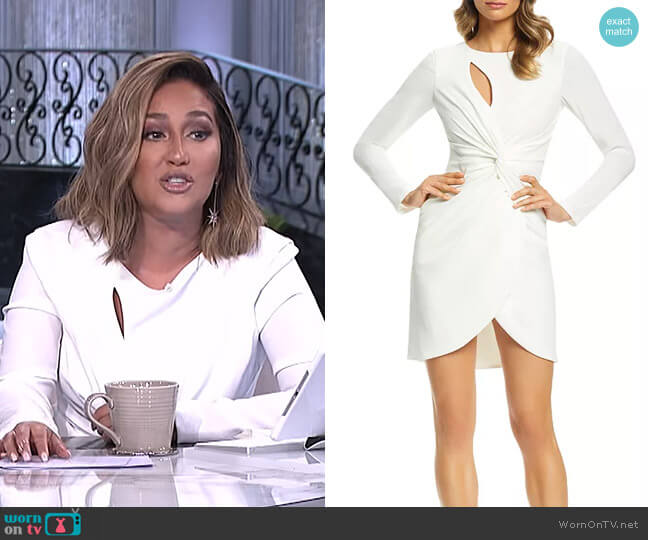 Coby Dress by Dress the Population worn by Adrienne Houghton  on The Real