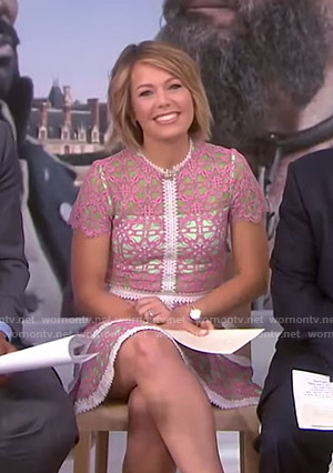 Dylan's pink lace dress on Today
