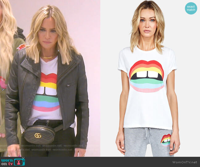 Edda Rainbow Gap Mouth by Lauren Moshi worn by Teddi Mellencamp Arroyave  on The Real Housewives of Beverly Hills