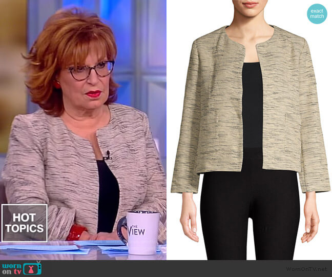 Cotton Roundneck Cropped Jacket by Eileen Fisher worn by Joy Behar (Joy Behar) on The View