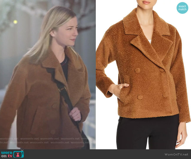 Textured Double-Breasted Jacket by Eileen Fisher worn by Nicolette Nevin (Emily VanCamp) on The Resident