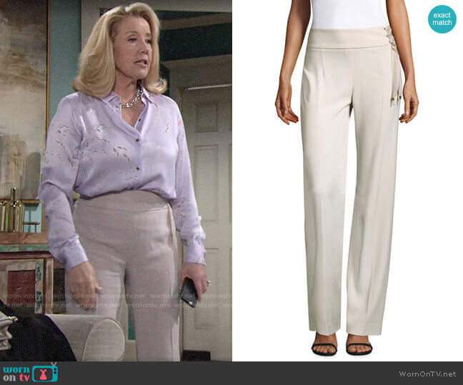 Elie Tahari Haidee Pants worn by Nikki Reed Newman (Melody Thomas-Scott) on The Young & the Restless