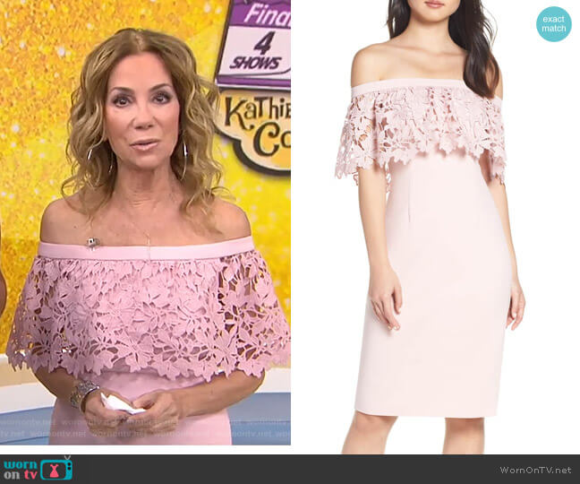 Off the Shoulder Sheath Dress by Eliza J worn by Kathie Lee Gifford  on Today