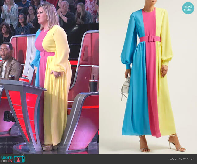 Bernadette Dress by Emilia Wickstead worn by Kelly Clarkson  on The Voice